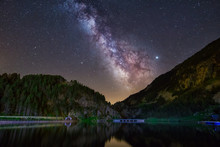 Night  Astrophotography. Milky...