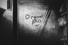 Dream Big Shower Writing In St...