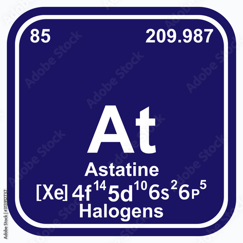Astatine Periodic Table of the Elements Vector illustration eps 10 Wallpaper Mural