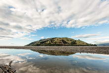 Landscape Photo With Reflection Of Pepin Island In Cable Bay, NZ