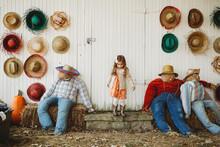 Fall Pumpkin Farm Day With Little Girl