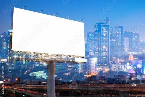 Fotomural billboard blank for outdoor advertising poster or blank billboard for advertisem