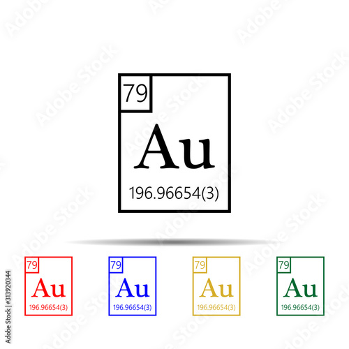Photo Periodic Table of Elements - aurum multi color style icon