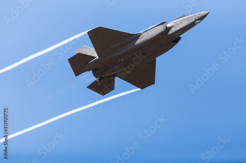 F-35A stealth fighter captured in July 2018 at the Royal International Air Tatto Canvas Print