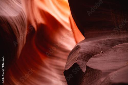 Détails entre ombres et lumières à Antelope Canyon - Grand Ouest Américain Canvas Print