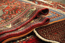 Oriental Red Carpets Creased For Sale