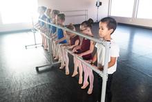 Young Ballet Dancer Class In D...