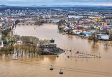 Hochwasser Bei Koblenz (Rhein Und Mosel)
