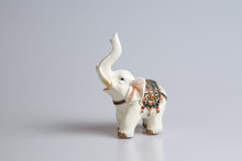 Little Elephant On White Backg...