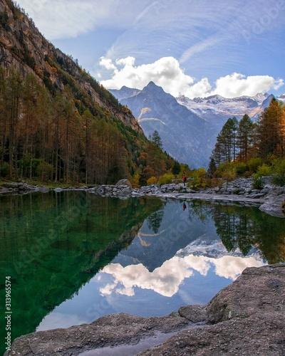 Val di Mello, a beautiful valley in italian alps. Sondrio Canvas Print