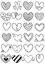0052 Hand Drawn Scribble Hearts