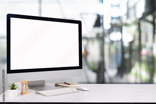 Fototapeta laptop monitor digital pc desk Mockup