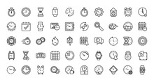 Isolated Clocks Instruments Icon Set Vector Design
