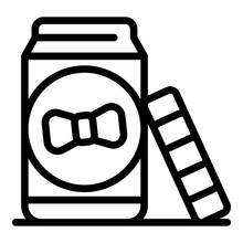 Open Baby Food Jar Icon. Outli...