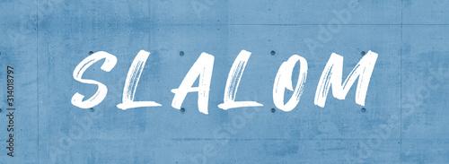 Fotomural web Sport Label Slalom
