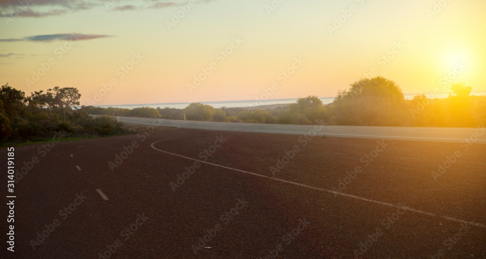 Fototapeta Sunset at summer . Mixed media