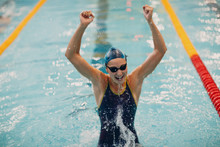 Young Woman Swimmer Portrait J...