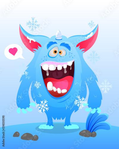 фотография Cute Monster Illustration