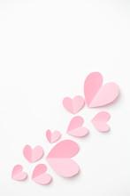 Shape Of Heart Flying On White...