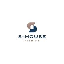 S Letter House Logo Vector Ico...