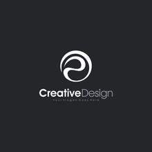 Vector Graphic Creative Line Alphabet Symbol Letter P Logo Creative Design