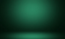 Green Room. Empty Green Studio Room, Used As Background For Display Your Products. Abstract Green Gradient