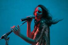 Caucasian Female Singer Portra...