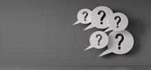 Question Mark Speech Bubbles I...
