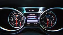 Modern Car Speedometer. Close ...
