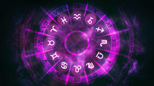 Purple Astrological Wheel With...