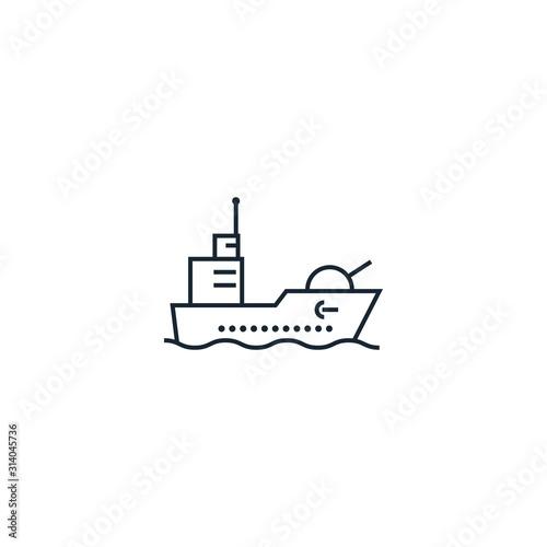 warship creative icon Canvas Print