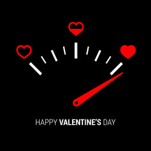 Love Meter In Speedometer Desi...