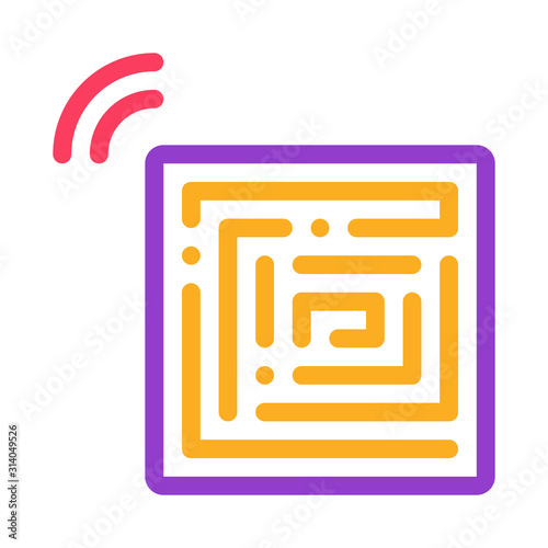 Disposable Anti-Theft Stickers Icon Vector Wallpaper Mural