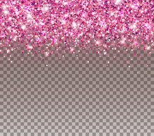 Pink Glitter Particles And Lig...