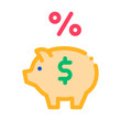Piggy Bank Pig Money Icon Vector. Outline Piggy Bank Pig Money Sign. Isolated Contour Symbol Illustration