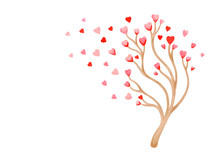 Valentine Tree With Love Heart...