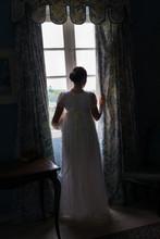 Regency Woman In Dark Room