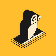 Isometric Pirate Parrot Icon I...