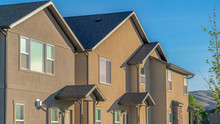 Pano Frame Facade Of Homes Wit...