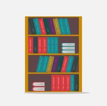 Big Bookshelf Vector Illustrat...