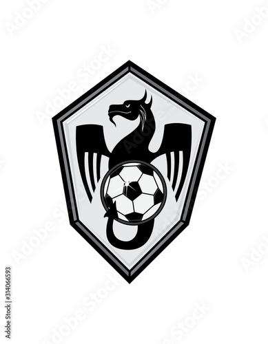 Photo Football emblem with a dragon