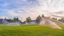 Pano Frame Sprinklers Watering...