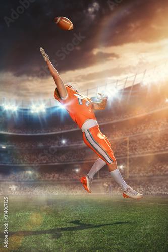 American Football Touchdown Catch Wallpaper Mural