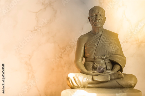 Canvas Print Buddhist monk