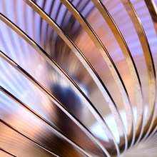Metal Slinky Toy Close-up