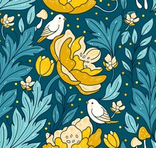 Seamless Floral  Pattern - Tur...