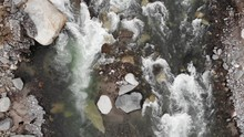 Cinematic Aerial Shot Of A Riv...