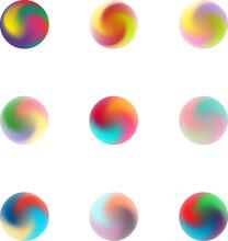 Set Of Nine Multicolor Pastel ...