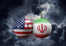 USA And Iran Balls Smashing To...