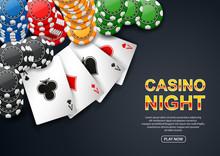 Casino Night. With Chip Poker ...